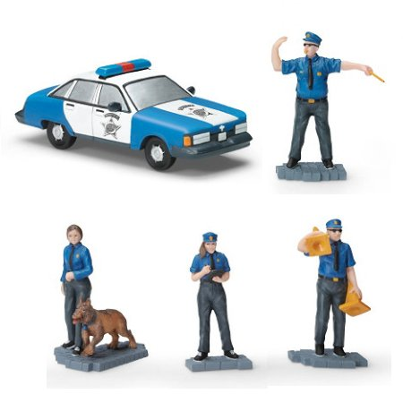 Serving With Pride Handcrafted Train Accessories Collection - Police