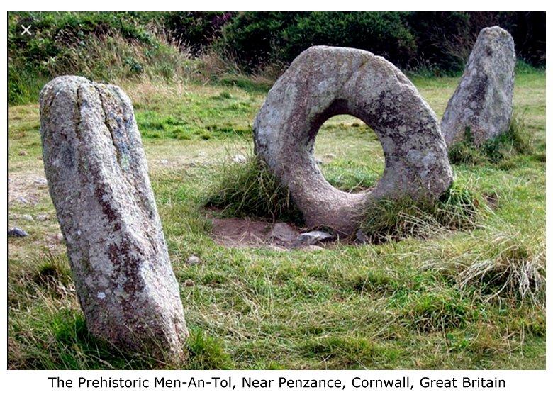 The Prehistoric Men-An-Tol, Near Penzance, Cornwall, Great Britain<