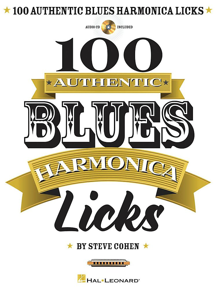Hal Leonard - 100 Authentic Blues Harmonica Licks Book/Cd