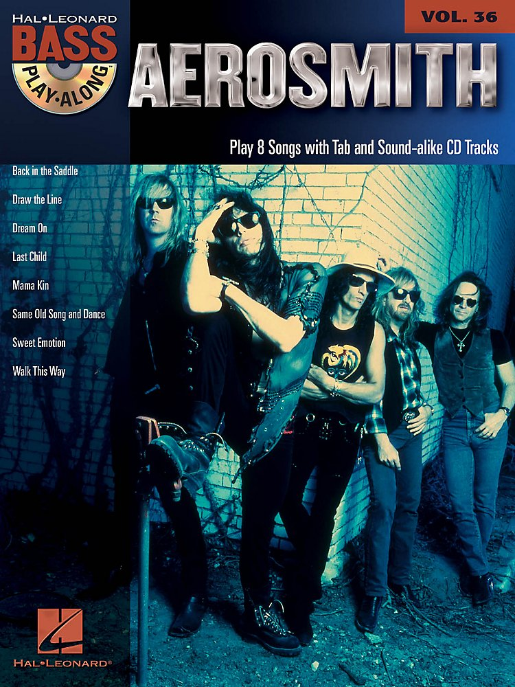 Book: Hal Leonard Aerosmith - Bass Play-Along Volume 36 Book/Cd