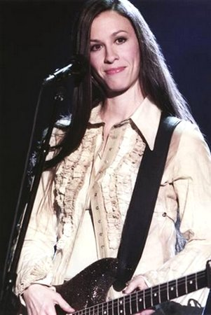 Alanis Morissette - Playing Guitar