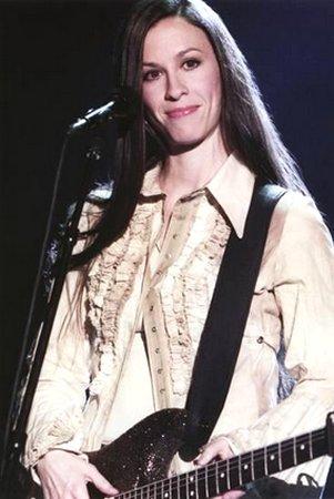 Alanis Morissette - Playing Guitar