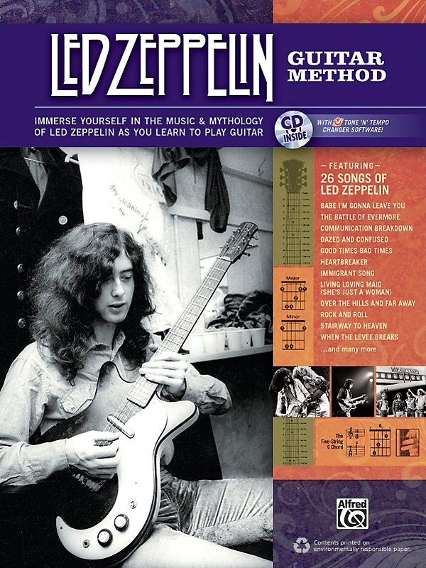 Alfred - Led Zeppelin Guitar Method Book/CD