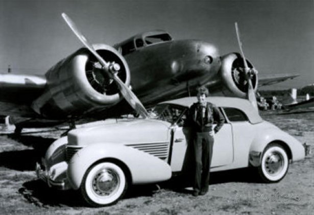 Amelia Earhart with Plane and Car Poster