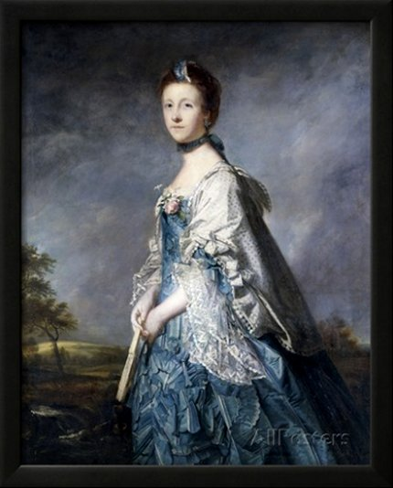 Anne, Countess Winterton, Wearing a Blue Dress, by Sir Joshua Reynolds