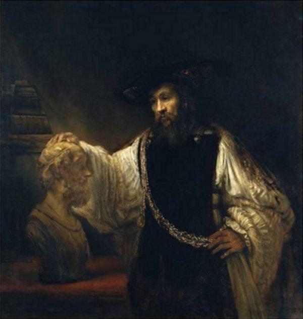 Aristotle with a Bust of Homer - Rembrandt van Rijn