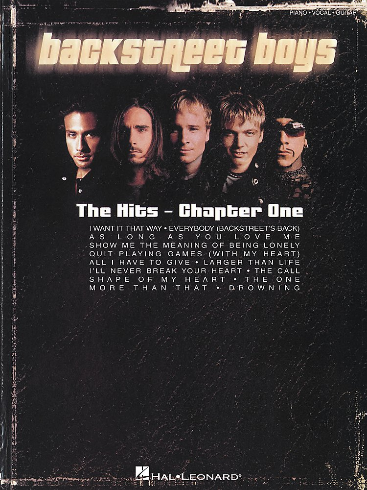 Backstreet Boys The Hits Chapter One Piano Vocal Guitar Book