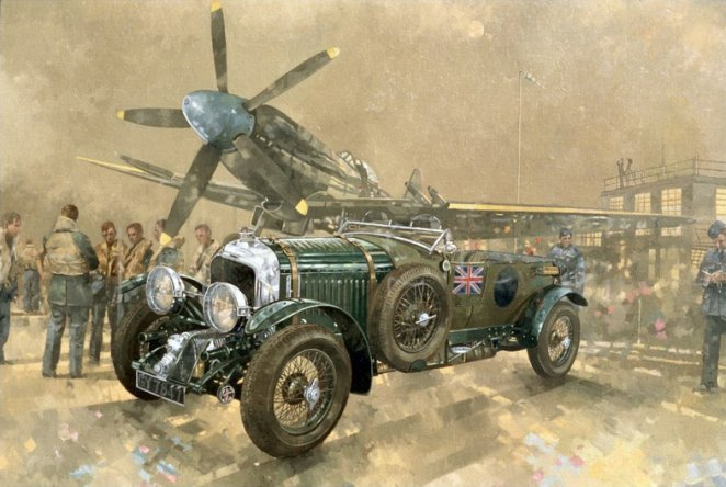 Bentley and Spitfire by Peter Miller - Giclee Print