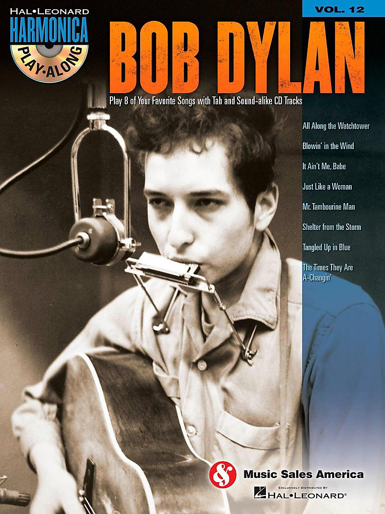 Music Sales - Bob Dylan - Harmonica Play-Along Volume 12 Book/CD