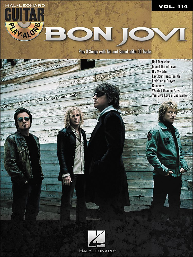 Hal Leonard - Bon Jovi - Guitar Play-Along Volume 114 (Book/Cd)