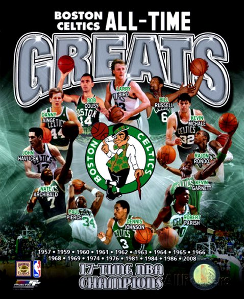 Boston Celtics All Time Greats Composite