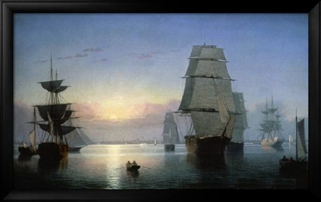 Lane: Boston Harbor by Fitz Hugh Lane