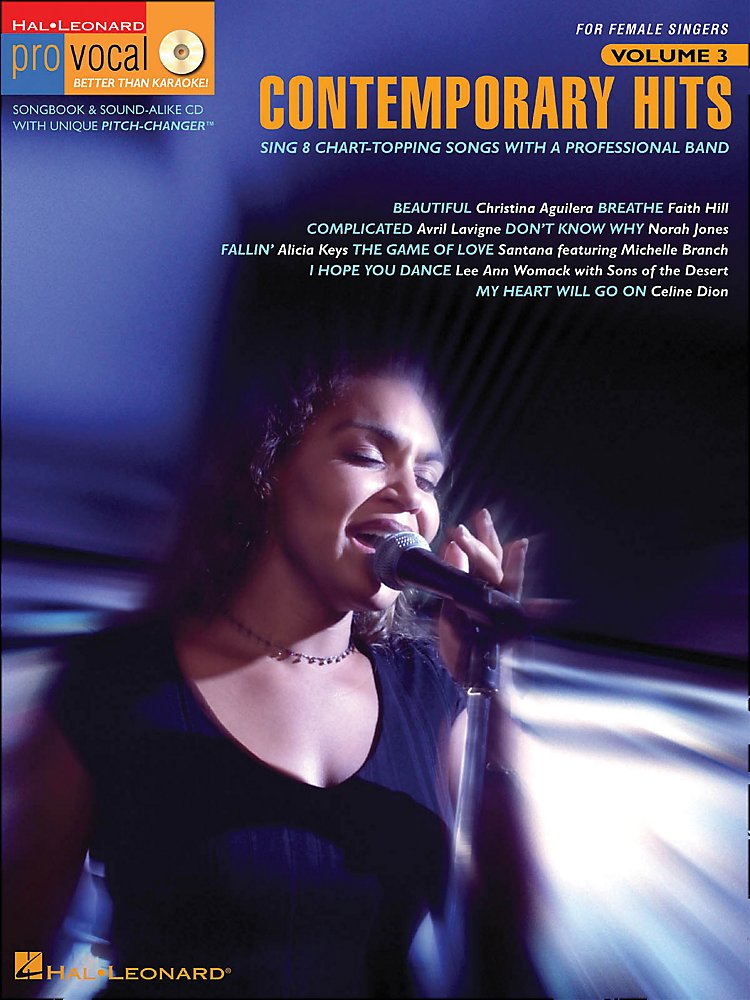 Contemporary Hits Pro Vocal Series For Female Singers Book/Cd Vol 3