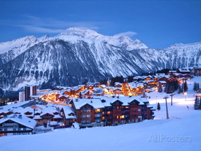 Courchevel 1850 Ski Resort in the Three Valleys, Les Trois Vallees, Savoie, French Alps, France