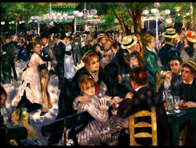 Dance at the Moulin de la Galette, 1876 by Pierre-Auguste Renoir