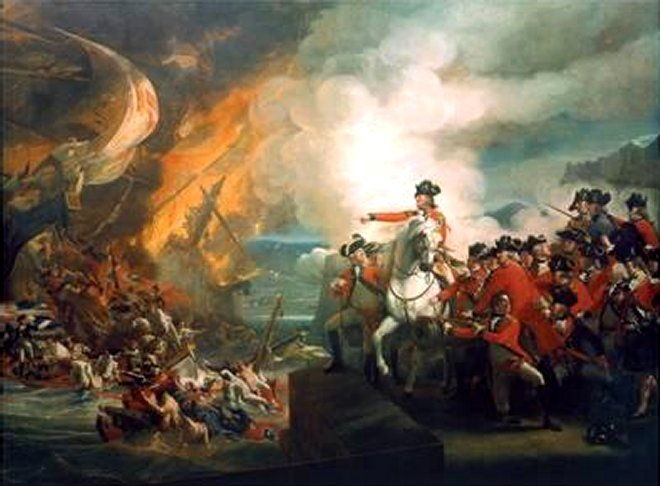 Defeat of the Floating Batteries at Gibraltar 1782 - by John Singleton Copley