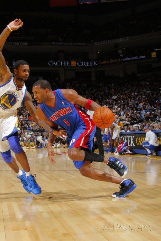 Detroit Pistons v Golden State Warriors: Tracy McGrady and Dorell Wright