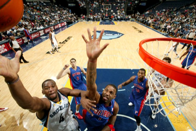 Detroit Pistons v Memphis Grizzlies: Sam Young and Tracy McGrady