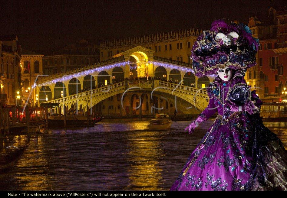 Elaborate Costume for Carnival Festival, Venice, Italy