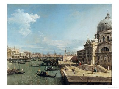 The Entrance to the Grand Canal, Venice, Italy - by Canaletto