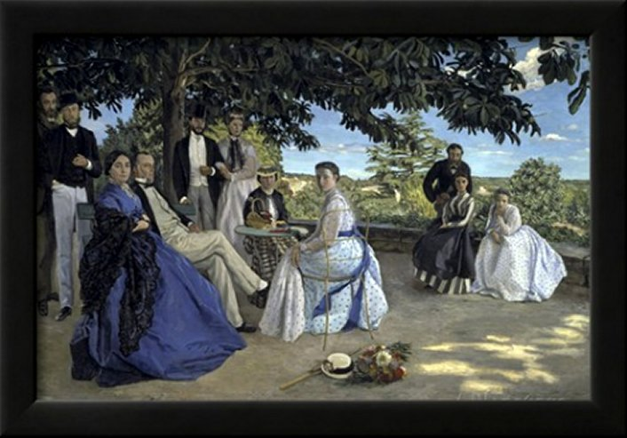 Family Reunion, c.1867 by Frédéric Bazille