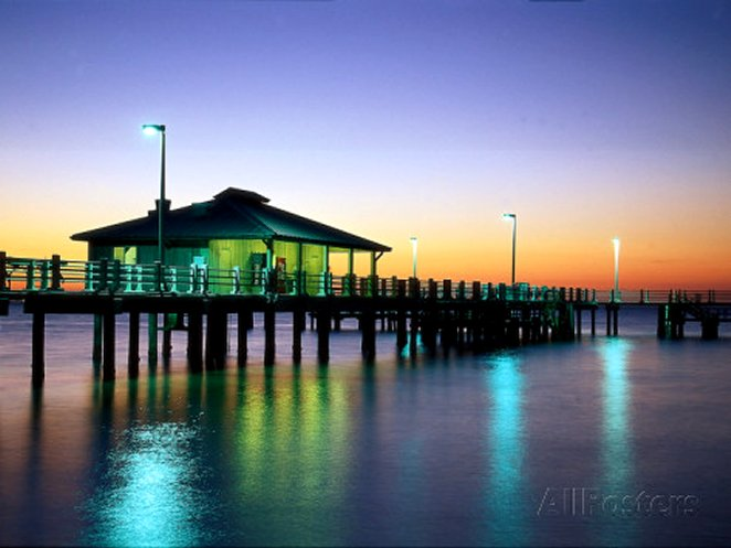 Fishing Pier at Sunrise, Fort de Soto Park, FL, by David Davis