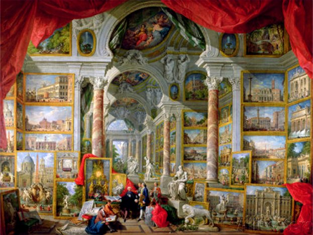Gallery with Views of Modern Rome, 1759 - by Giovanni Paolo Pannini