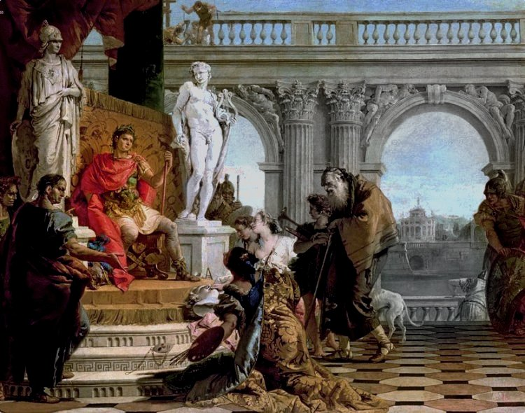 Maecenas Presenting the Arts to Augustus, c.1745 by Giovanni Battista Tiepolo
