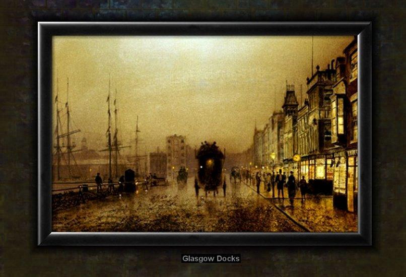Glasgow Docks by Atkinson Grimshaw