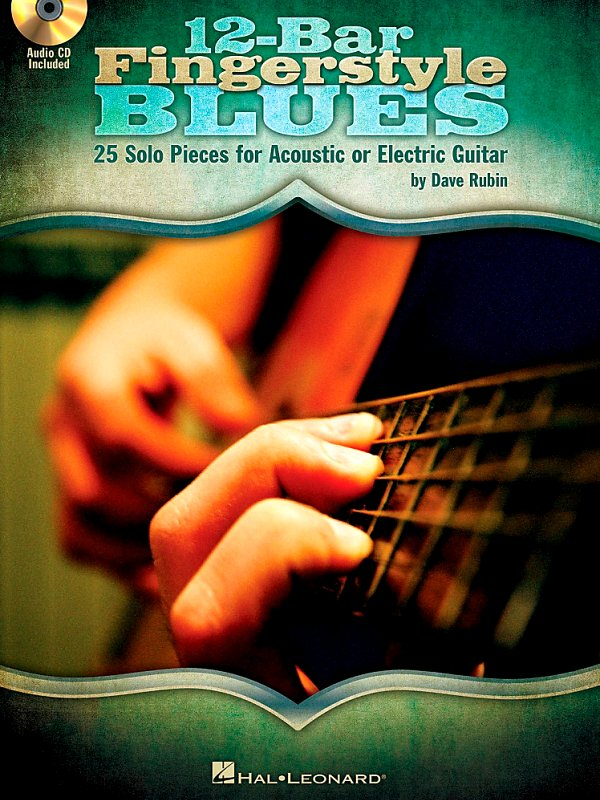 Hal Leonard - 12-Bar Fingerstyle Blues - 25 Solo Pieces For Acoustic Or Electric Guitar Book/Cd