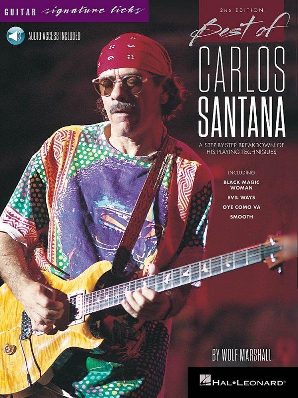 Hal Leonard Best Of Carlos Santana - Signature Licks - 2Nd Edition Bk/Audio Online By Wolf Marshall