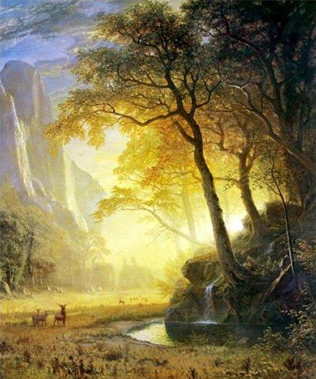 Hetch Hetchy Canyon by Albert Bierstadt, Art Print