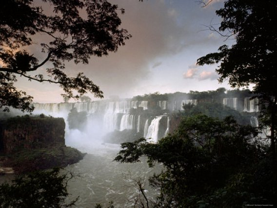 Iguacu Falls, Viewed from the Argentina Side, Art Print
