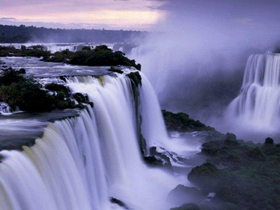 Waterfall Iguazu Falls, Art Print