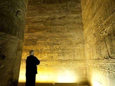 Interior, Temple of Horus, Edfu, Egypt