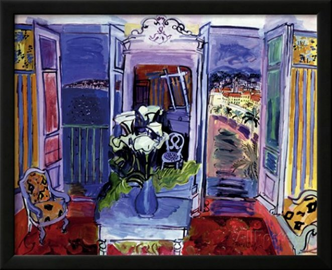 Interior with Open Windows by Raoul Dufy