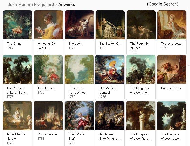 Jean Honoré Fragonard Artworks, Google Search