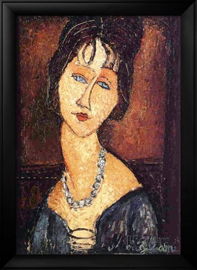 Jeanne Hebuterne with a Necklace, 1917by Amedeo Modigliani