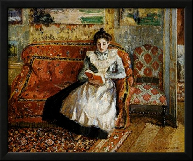 Jeanne Pissarro, Reading - by Camille Pissarro
