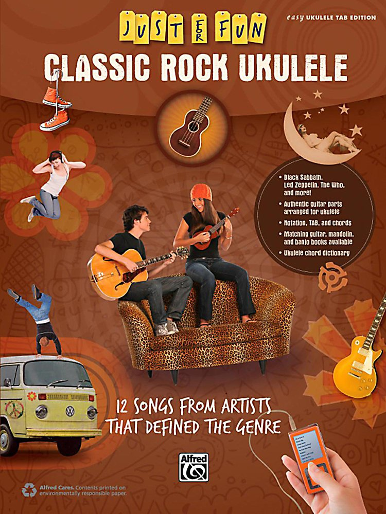 Alfred - Just For Fun Classic Rock Ukulele Book