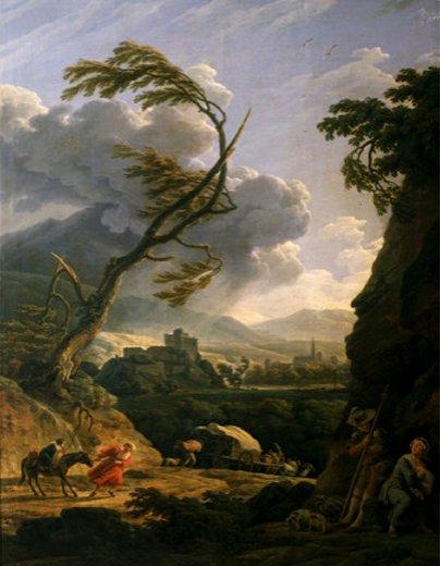 Midi Sur Terre, Le Coup De Vent (Gust of Wind), 1767 by Claude Josep Vernet