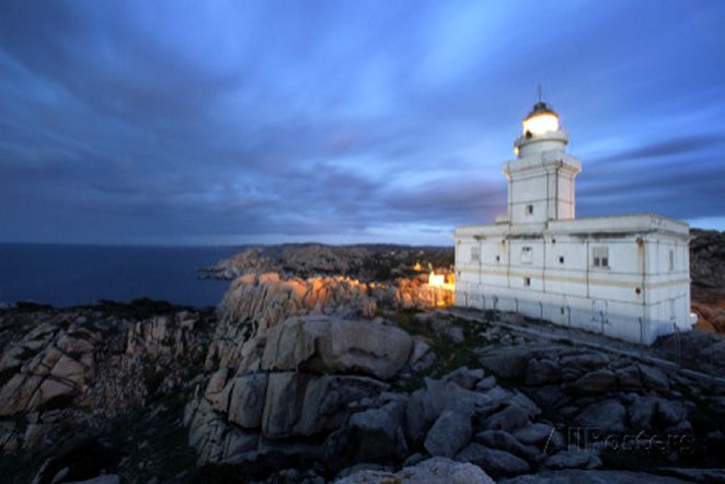 Lighthouse At Capo Testa, Near Santa Teresa Di Gallura, On Sardinia's Northernmost Headland, by David Yoder
