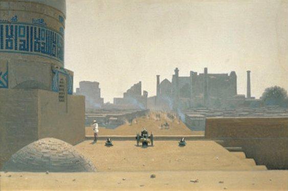 Main Street in Samarkand, Early Morning, 1869-70, Uzbekistan, art print