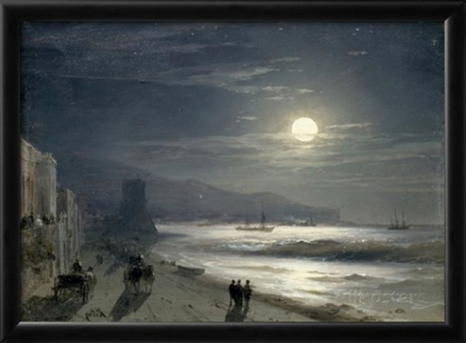 Moon Night, 1885 by Ivan Konstantinovich Aivazovsky