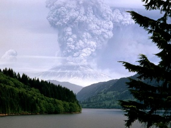 Earth Science - Mount St. Helens Erupting
