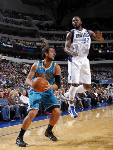 New Orleans Hornets v Dallas Mavericks: Marco Belinelli and DeShawn Stevenson