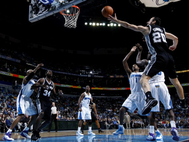 San Antonio Spurs v New Orleans Hornets: Manu Ginobili