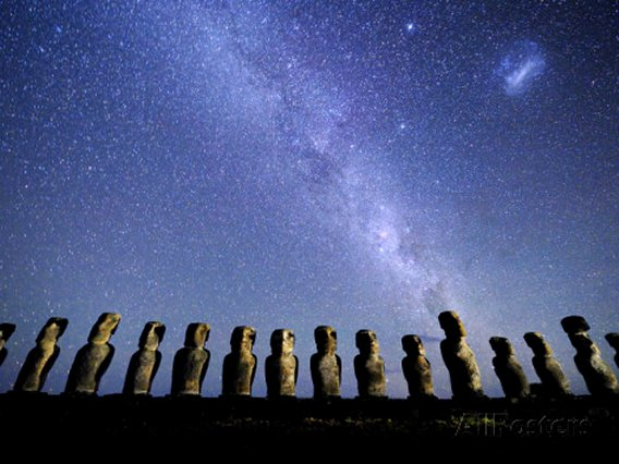 Night Sky over the Easter Island Monoliths