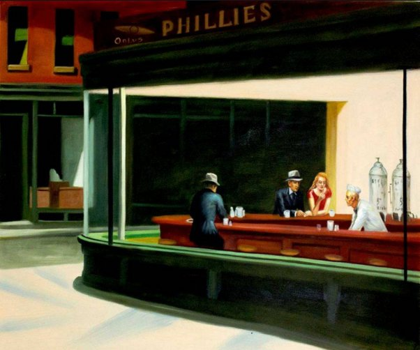 Nighthawks, c. 1942 by Edward Hopper
