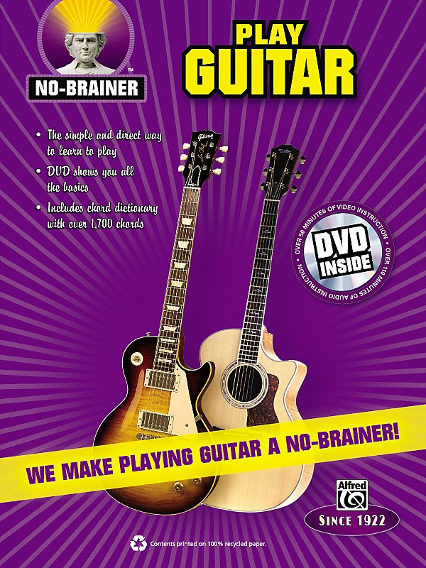 Alfred - No-Brainer Play Guitar Book & Cd
